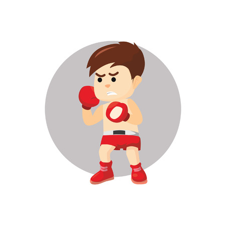 ready: Boy ready for boxing