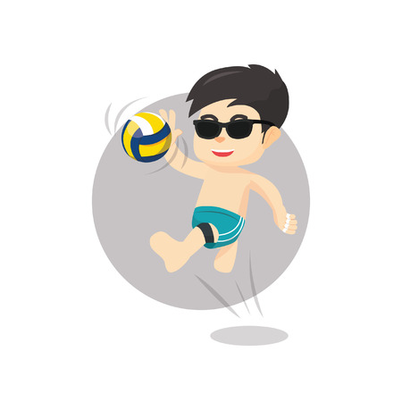 volley ball: Beach volley ball player