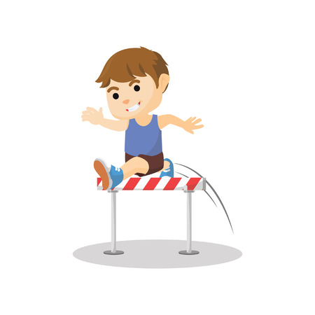 leaping: Boy jumping excercise Illustration