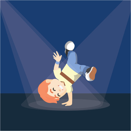 break dance: Boy break dance on stage performance