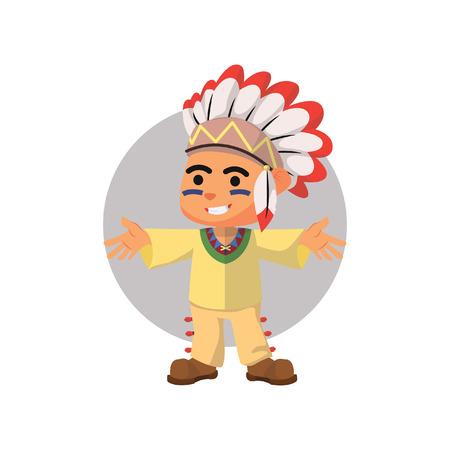 indian boy: Indian boy waving hand Illustration