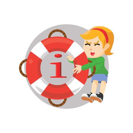 dandruff: Girl pulling float information