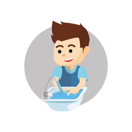 Boy lavado de manos