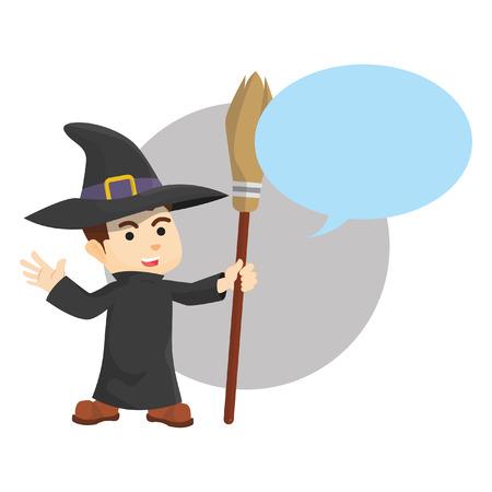 Wizard bubble text Illustration