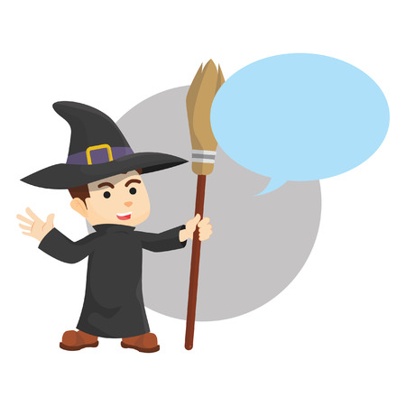 harry: Wizard bubble text Illustration