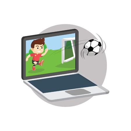 online game: Football online game Illustration