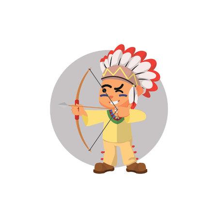 indian boy: Indian boy using archery