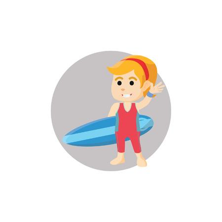 surfing board: Girl holding surfing board