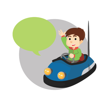 callout: Bumper car with callout Illustration