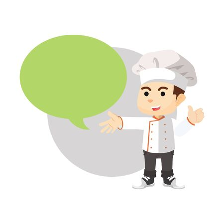 callout: Boy using chef text with callout Illustration