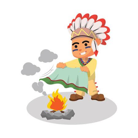 Indische jongen spelen rook Stockfoto - 55897777
