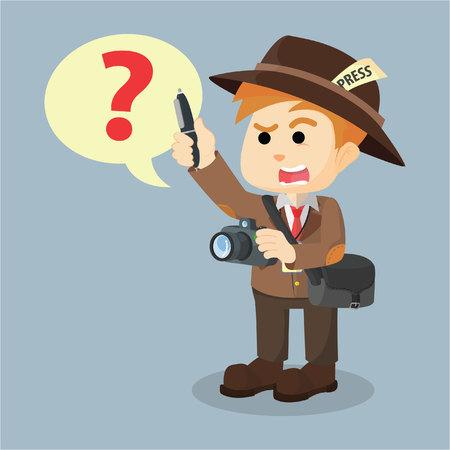 asking: jurnalist asking cartoon illustration