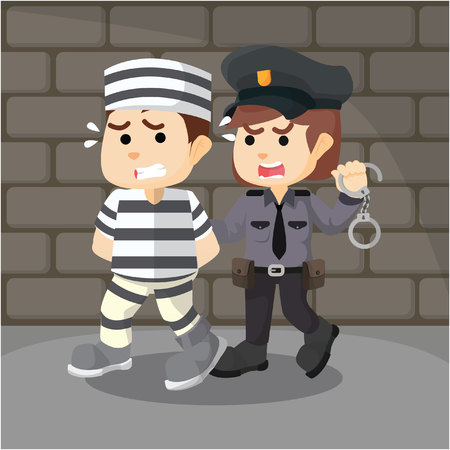 convict: police women catching convict