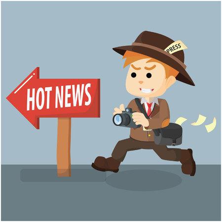 hot news: journalist following hot news