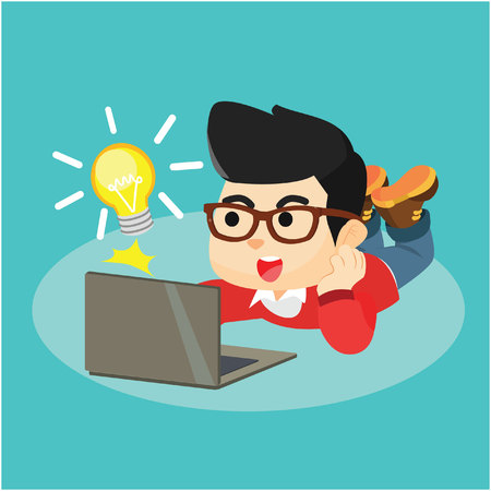 appear: Innovation idea appear from laptop Illustration