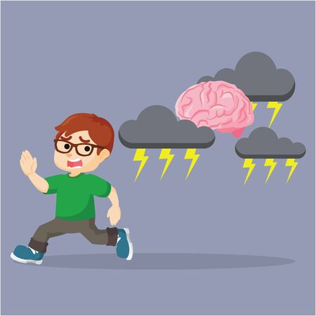 perseverance: boy running from the stressed brain