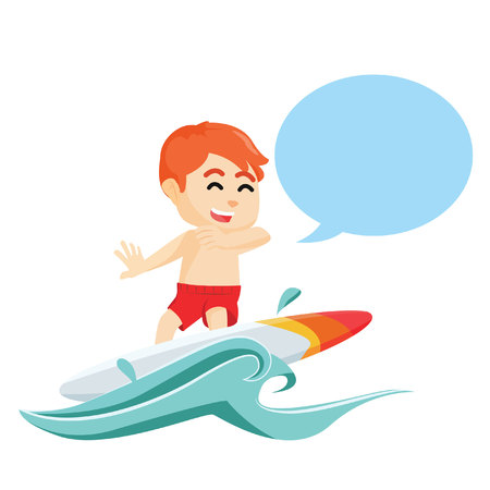 callout: boy surfing with callout