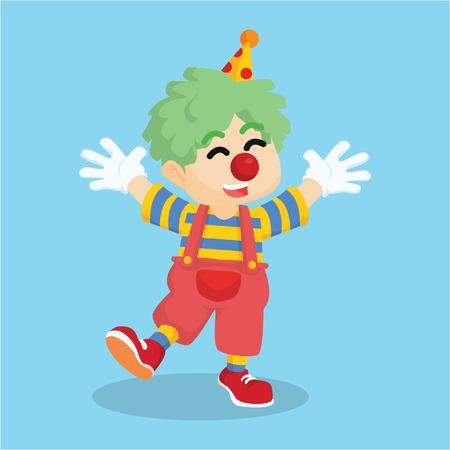 dressed: dressed as clown  cartoon illustration Illustration