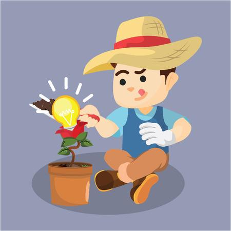 ligh: boy gardening idea plant