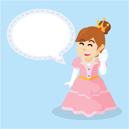 callout: princess with callout  cartoon illustration
