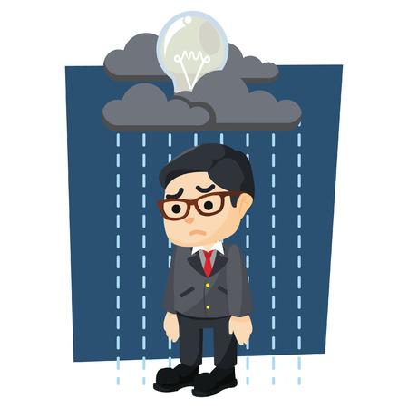 raining: boy with raining bulb