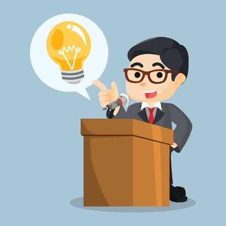 contentedness: giving speech his innovation