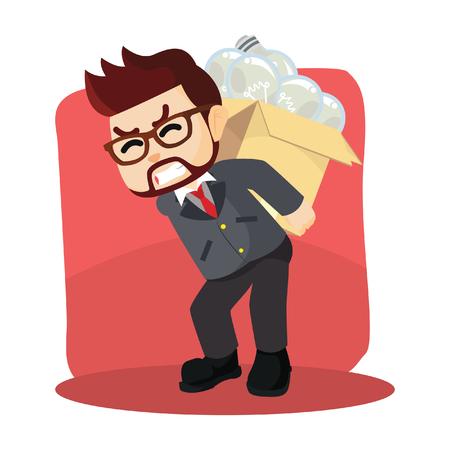 carrying: men carrying unfunctional bulb