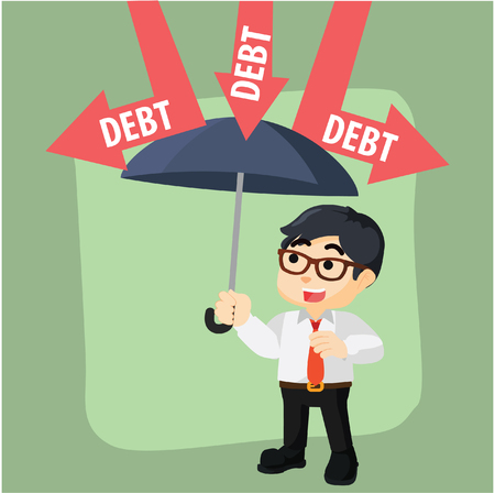 covering from debt  illustration design