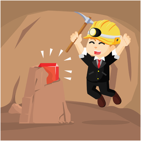 ruby: A business man find a ruby in cave