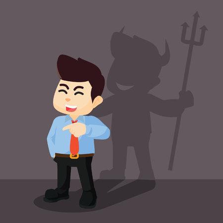 has: The young entrepreneur has an devil idea