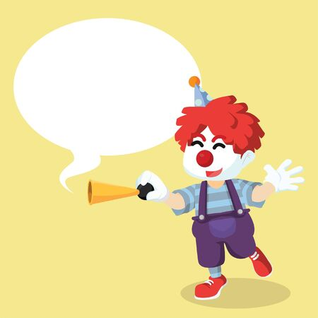 honking: Clown honking with callout Illustration