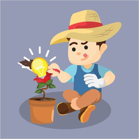 man had the idea of gardening