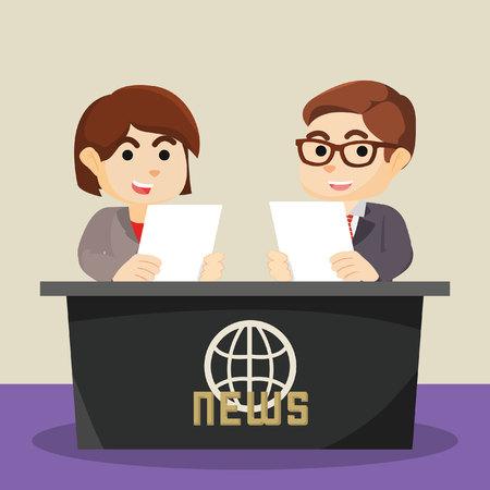 anchor man: a man and woman were news anchor