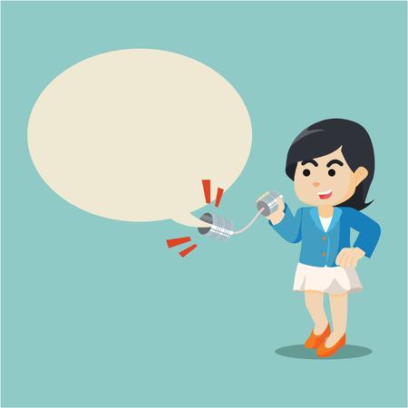 zakenvrouw praten doorslapen kan bellen