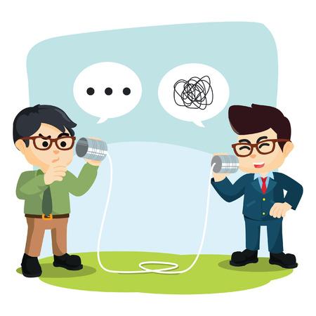 Werkgevers niet begrijpen wat er in het praten over zijn vriend Stock Illustratie