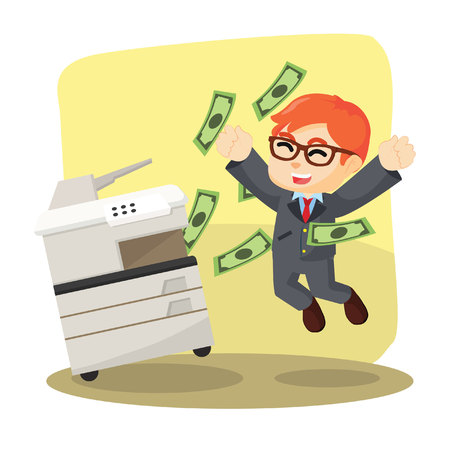 businessman successfully copying money