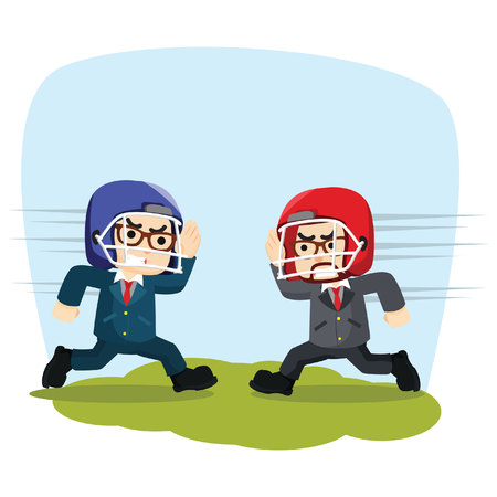 two businessmen were compete strength