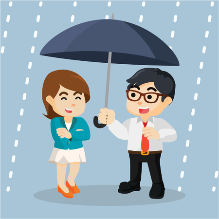 partnership security: business project under the umbrella of rain