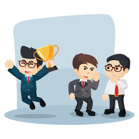 gossiping: businessman gossiping his successful friend