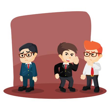 gossiping: businessman gossiping his friend failure