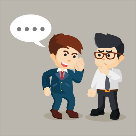 persuade: businessman persuade his friend to gossip