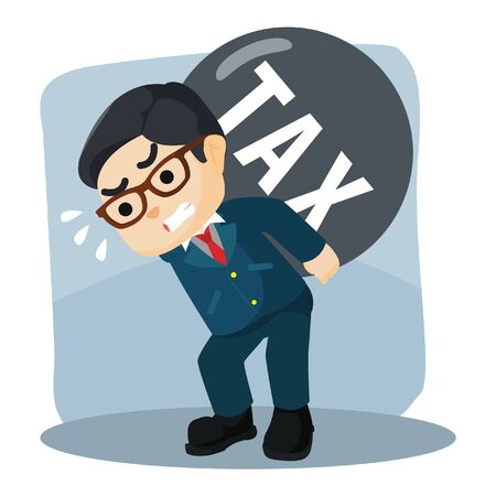 carrying: businessman carrying his tax Illustration