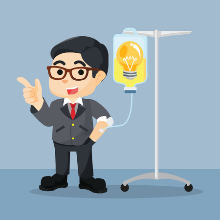 infusion: business man getting the bulb idea infusion