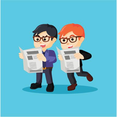 cheater: Business man cheating  illustration design