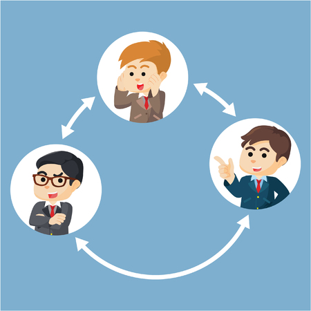 Business collaboration concept  illustration design
