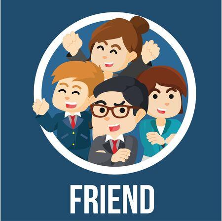 colleague: Business man friendship colleague