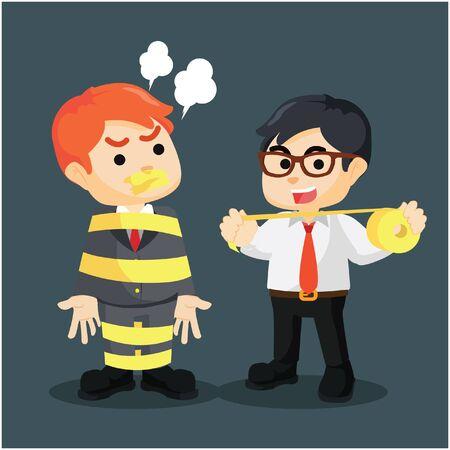 intimidation: Business man intimidation the boss