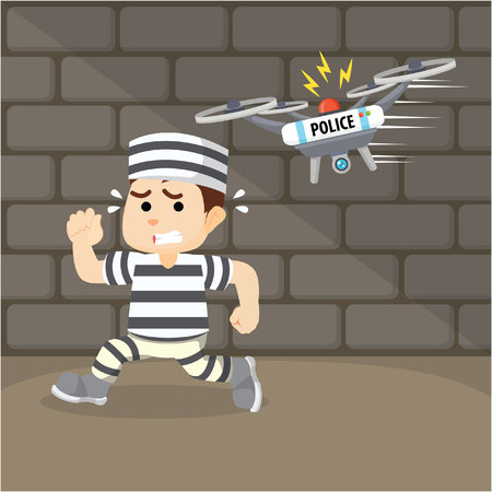 convict: drone capture the escaped convict