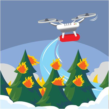 extinguish: Extinguish fire with drone