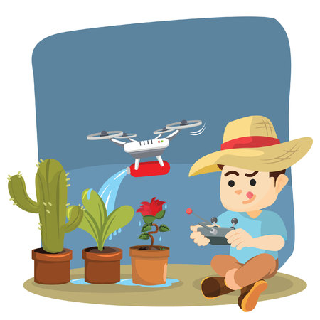 watering plant: use drone for watering plant